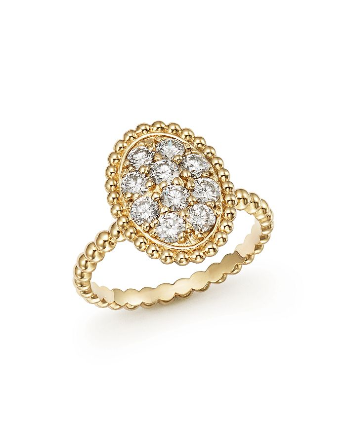 Bloomingdale's - Diamond Oval Beaded Ring in 14K Yellow Gold, .80 ct. t.w. - 100% Exclusive