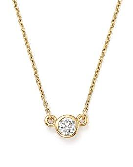 Bloomingdale's - Diamond Bezel Pendant Necklace in 14K Yellow Gold, .25 ct. t.w. - 100% Exclusive
