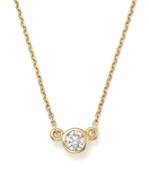 Diamond Bezel Pendant Necklace in 14K Yellow Gold, .25 ct. t.w. - 100% Exclusive