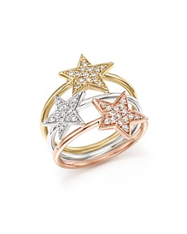 Bloomingdale's - Diamond Triple Row Star Ring in 14K Gold, .35 ct. t.w. - 100% Exclusive