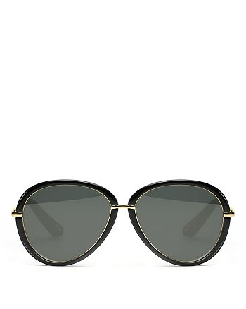 Elizabeth and James - Women's Reed Solid Round Sunglasses, 57mm