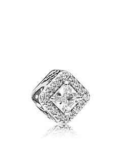 PANDORA Sterling Silver & Cubic Zirconia Geometric Radiance Charm - Bloomingdale's_0