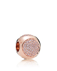 PANDORA Charm - Sterling Silver & Cubic Zirconia Rose Dazzling Droplet Charm - Bloomingdale's_0