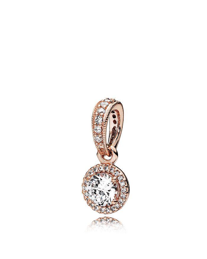 PANDORA - Sterling Silver & Cubic Zirconia Rose Classic Elegance Pendant
