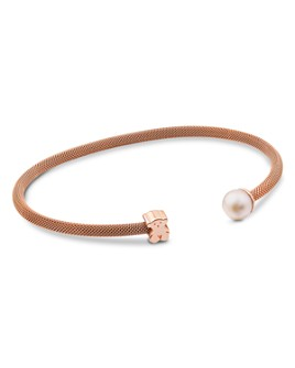 TOUS - Cultured Freshwater Pearl & Bear Open Cuff