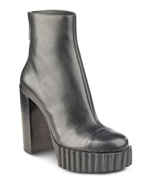 Kendall and Kylie Women's Cadence Leather Platform High Heel Booties