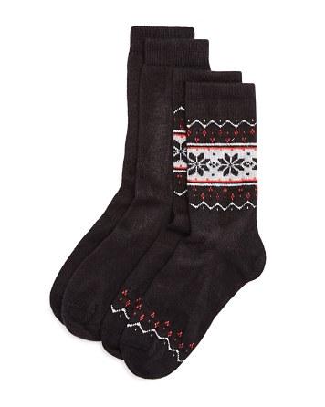 $HUE Fair Isle Boot Socks, Set of 2 - Bloomingdale's