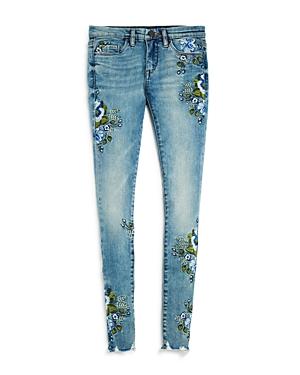 Blanknyc Girls' Floral Embroidered Skinny Jeans - Big Kid