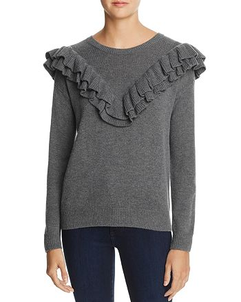 One Grey Day - Ruffled Sweater - 100% Exclusive