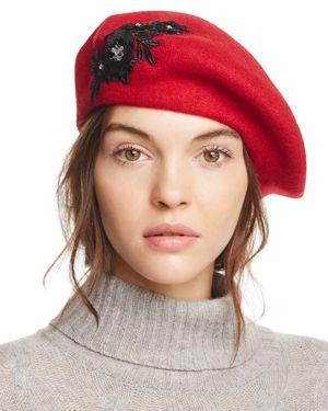 August Hat Company Melton Applique Beret - 100% Exclusive