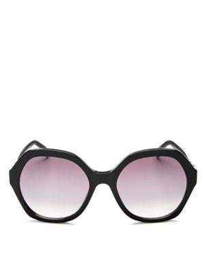 Fendi Mirrored Oversized Round Sunglasses, 56mm