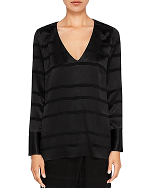 Ted Baker Ted Says Relax Genina Stripe V-Neck Top