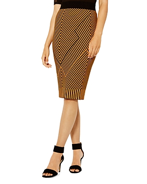 Karen Millen Chevron Stripe Knit Pencil Skirt