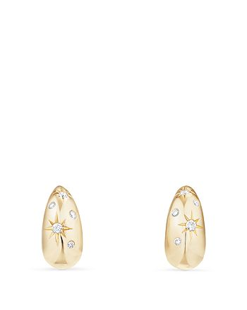 David Yurman - Pure Form Pod Earrings with Diamonds in 18K Gold