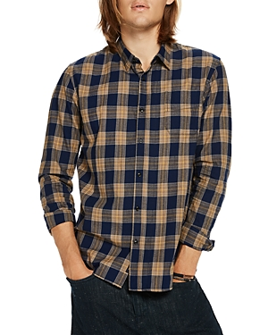 Scotch & Soda Plaid Long Sleeve Button-Down Slim Fit Shirt