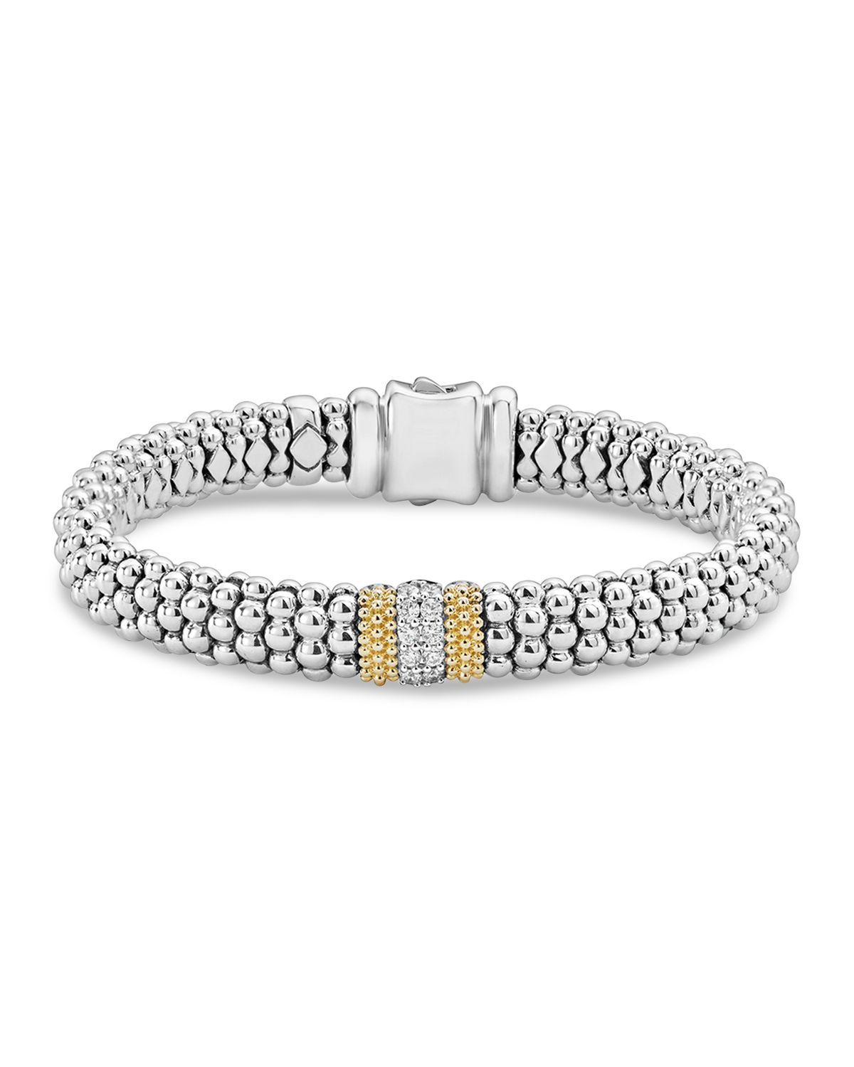Lagos Diamond Lux 9mm Three Station Bracelet with Diamonds