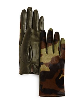 Bloomingdale's - Camo Cashmere & Calf Hair Gloves - 100% Exclusive