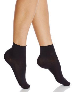 FALKE Roll-Top Touch Short Socks in Black
