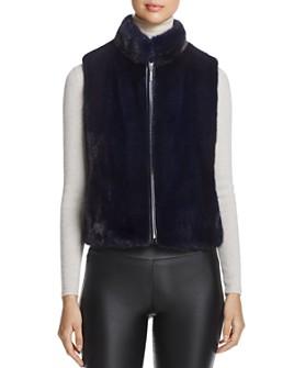 Maximilian Furs - Cropped Nafa Mink Fur Vest - 100% Exclusive