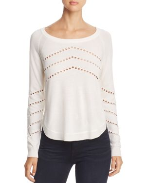H. One Pointelle Sweater