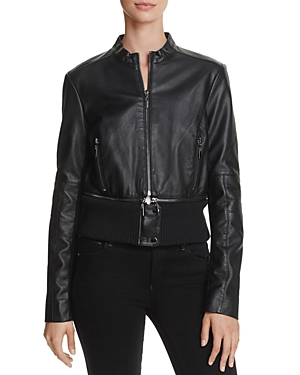 French Connection Sandra Pu Faux-Leather Jacket