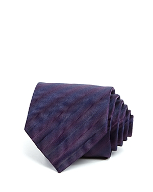 John Varvatos Star Usa Tonal Herringbone Pattern Classic Tie