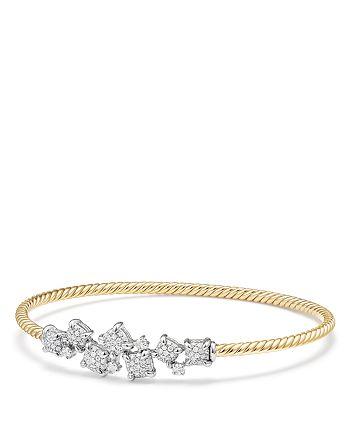 David Yurman - Precious Châtelaine Bracelet with Diamonds in 18K Gold
