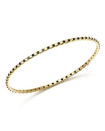 Armenta - 18K Yellow Gold Sueno Black Sapphire Eternity Bangle