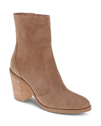 Splendid - Women's Roselyn II Suede Block Heel Booties