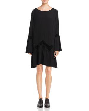 Muche et Muchette Raleigh Velvet-Trimmed Boho Dress