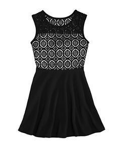 AQUA Girls' Lace Mix Skater Dress, Big Kid - 100% Exclusive - Bloomingdale's_0