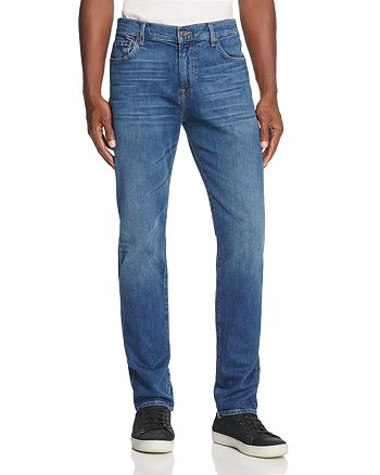 7 For All Mankind - Adrien Scout Slim Straight Fit Jeans in Medium Blue