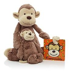 Jellycat - Bashful Monkey & If I Were a Monkey Book - Ages 0+