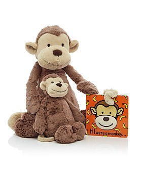 Jellycat - Bashful Monkey & If I Were a Monkey Book - Ages 0+