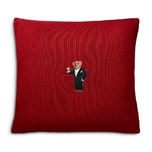 Ralph Lauren Martini Bear Decorative Pillow, 18 x 18