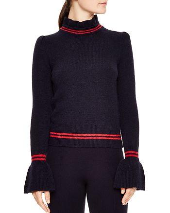 Sandro - Imene Flared-Cuff Mock-Neck Sweater