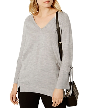Karen Millen Tie-Cuff Tunic Sweater