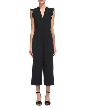 Whistles Lavene Ruffled Cropped Jumpsuit