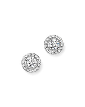 Bloomingdale's - Diamond Halo Stud Earrings in 14K White Gold, 1.50 ct. t.w. - 100% Exclusive