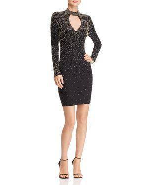 Aqua Beaded Cutout-Neck Dress - 100% Exclusive