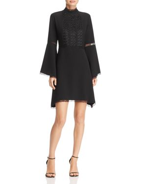 nanette Nanette Lepore Bell Sleeve Crepe Dress