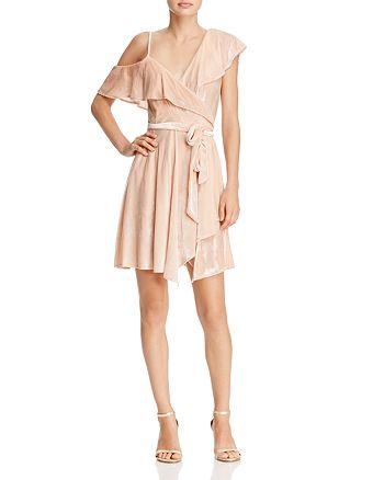 WAYF - Cold-Shoulder Velvet Wrap Dress - 100% Exclusive
