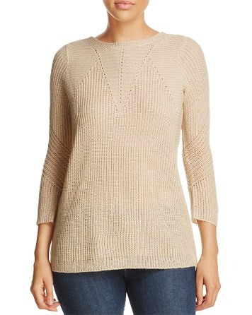 $Design History Lace-Up Sweater - Bloomingdale's