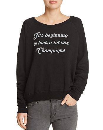 Project Social T - Champagne Graphic Sweatshirt