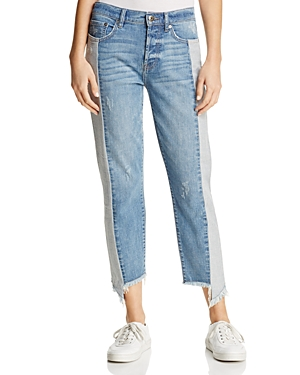Pistola Charlie Paneled Straight-Leg Jeans in Other Side - 100% Exclusive