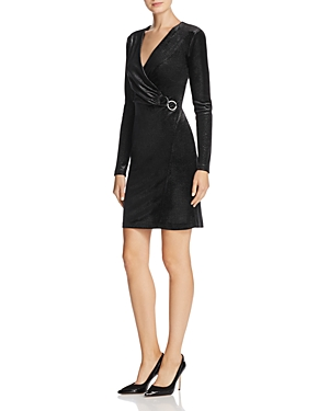 T Tahari Maureen Faux-Wrap Dress