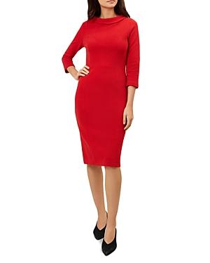 Hobbs London Cordelia Reverse-Collar Dress