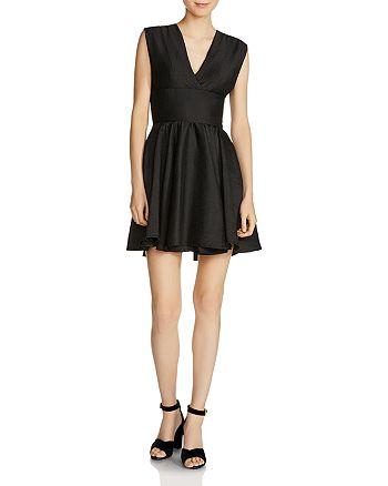 Maje - Revely Banded A-Line Dress