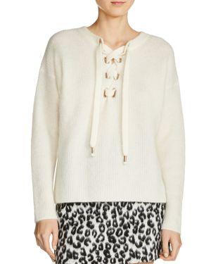Maje Manou Lace-Up Detail Sweater