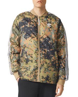 adidas Originals Camouflage Reversible Puffer Bomber Jacket